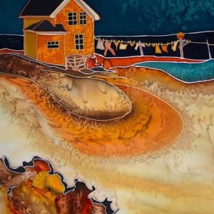 Linda Cyrenne - Corde à linge aux Îles-de-la-Madelaine
