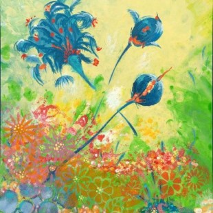 Denise Montplaisir - Pivoine bleue