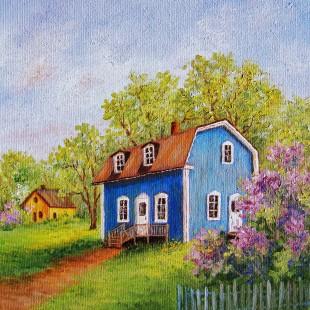Lucille Béland - La maison au lilas