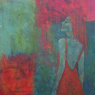 Colette Vadnais - Fille en rouge